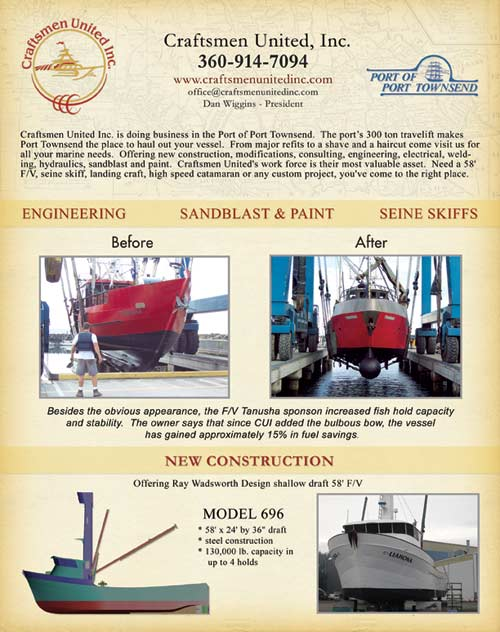 Craftsmen united inc aluminum boat builders located in for Pacific fishing magazine